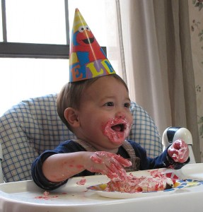 Image (c) James Emery. Kid has his cake and eats it too.