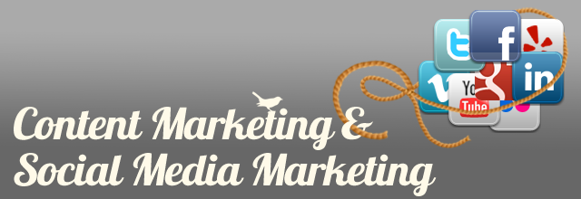 Content Marketing and Social Media Marketing banner