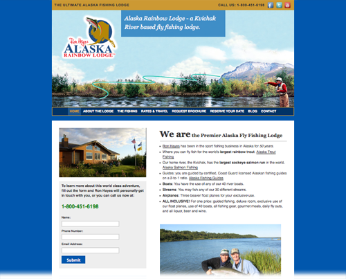 Wordpress website conversion done for Alaska Rainbow Lodge